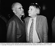 Francesco Clemente & John Reinholdt. Heather Watts birthday. Barolo. Manhattan. 27 September 1993<br />© Copyright Photograph by Dafydd Jones 66 Stockwell Park Rd. London SW9 0DA Tel 0171 733 0108