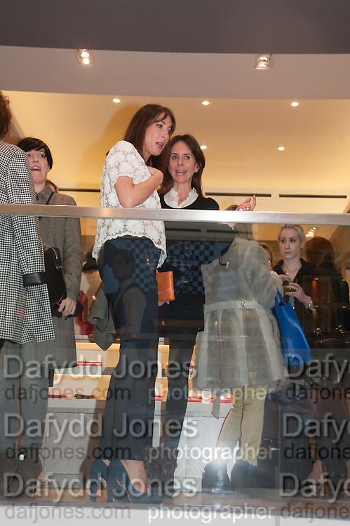 SAMANTHA CAMERON, Smythson Sloane St. Store opening. London. 6 February 2012.