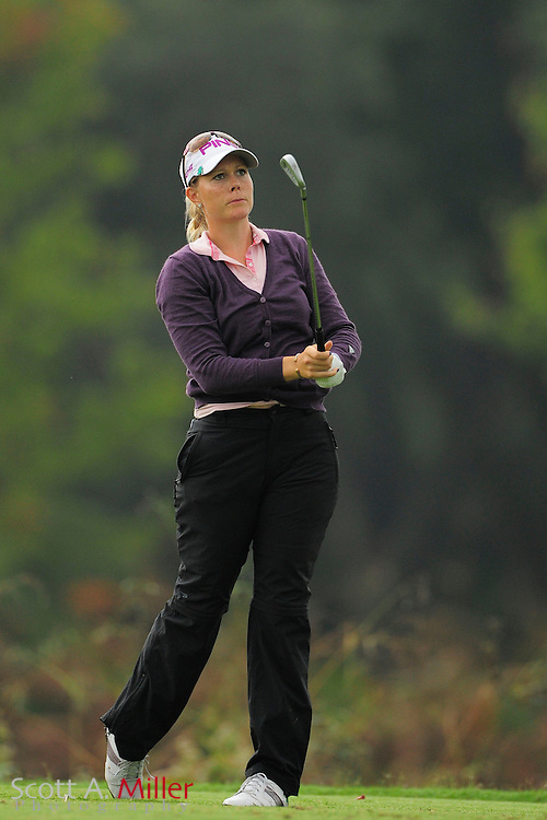 Caroline Westrup during the second round of the Symetra Tour Championship at LPGA International on Sept. 27, 2013 in Daytona Beach, Florida. <br /> <br /> <br /> &copy;2013 Scott A. Miller