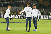 Jess Lingard of England, Marcus Rashford of England and Jermain Defoe of England in warm up during the International Friendly match between Germany and England at Signal Iduna Park, Dortmund, Germany on 22 March 2017. Photo by Phil Duncan.