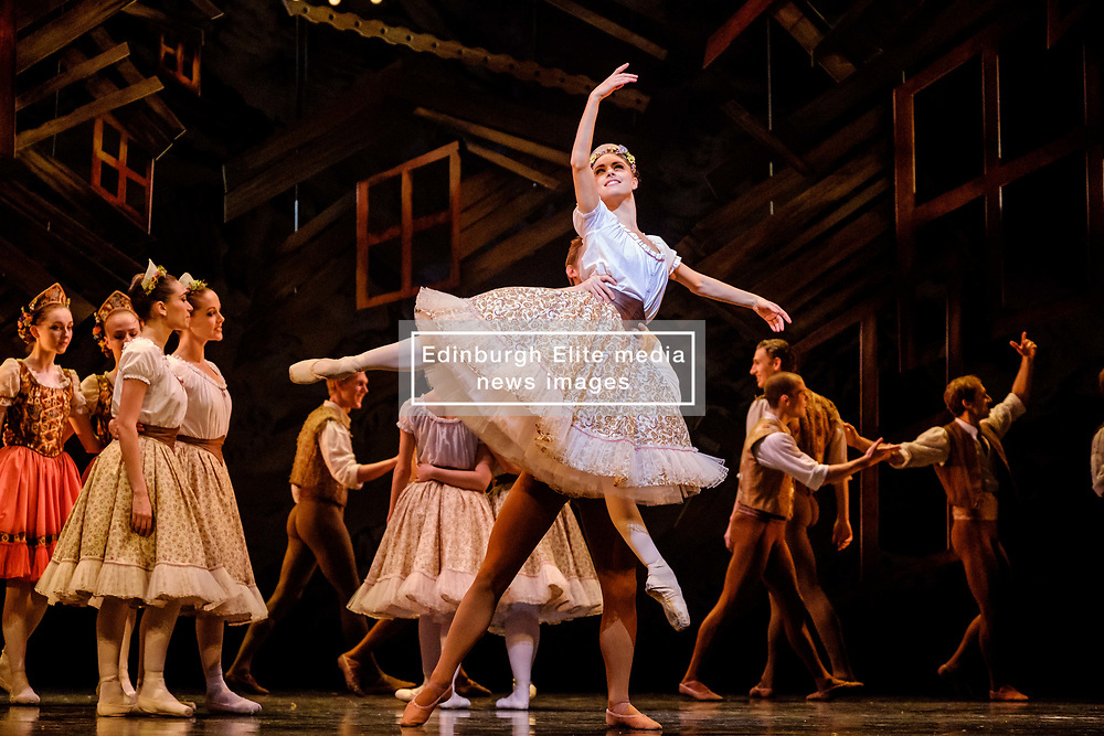 A scene from the SCOTTISH BALLET production of &quot;The Fairy's Kiss&quot; (Le Baiser de la F&eacute;e) at the Theatre Royal, Glasgow.<br /> <br /> Scottish-born choreographer Kenneth MacMillan created The Fairy&rsquo;s Kiss in 1960 for The Royal Ballet, and Scottish Ballet&rsquo;s revival marks the 25th anniversary of his death and its first presentation since 1986.<br /> <br /> Inspired by Hans Christian Andersen's fairy tale The Ice Maiden, The Fairy's Kiss tells the story of a boy cursed with a kiss, destined for immortality. Scottish Ballet&rsquo;s production features new sets and costumes designed by Gary Harris, who worked closely with MacMillan.<br /> <br /> The Fairy&rsquo;s Kiss will be performed alongside Christopher Hampson&rsquo;s The Rite of Spring in Glasgow (6-7 October), Edinburgh (11-13 October), Aberdeen (24-25 October), and Inverness (3-4 November). Scottish Ballet will also perform The Fairy&rsquo;s Kiss at The Royal Opera House, London on 18 and 19 October. This marks the first time that the Company will have performed at this iconic venue.<br /> <br /> <br /> (c) Andrew Wilson | Edinburgh Elite media