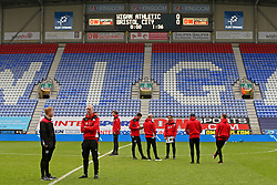 Bristol City players take a walk around the pitch on arrival at the DW Stadium - Mandatory by-line: Matt McNulty/JMP - 11/03/2017 - FOOTBALL - DW Stadium - Wigan, England - Wigan Athletic v Bristol City - Sky Bet Championship