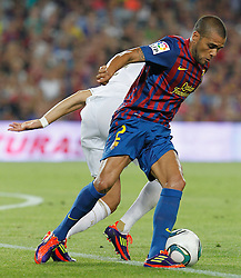 17.08.2011, Camp Nou, Barcelona, ESP, Supercup 2011, FC Barcelona vs Real Madrid, im Bild FC Barcelona's Daniel Alves during Spanish Supercup 2nd match.August 17,2011. EXPA Pictures © 2011, PhotoCredit: EXPA/ Alterphotos/ Acero +++++ ATTENTION - OUT OF SPAIN / ESP +++++
