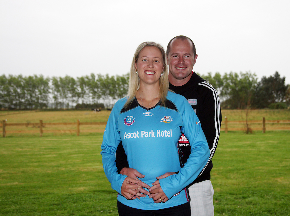 Netballer Wendy Frew and husband Trent  announce they are expecting their first child in August, Invercargill, New Zealand, Wednesday, February 09, 2012. Credit:SNPA / Dianne Manson.