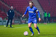 AFC Wimbledon midfielder Scott Wagstaff (7) during the The FA Cup match between Doncaster Rovers and AFC Wimbledon at the Keepmoat Stadium, Doncaster, England on 19 November 2019.