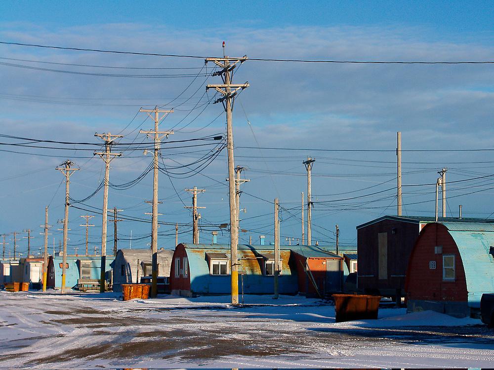 Barrow, Alaska. Quonset Huts used as homes in NARL.