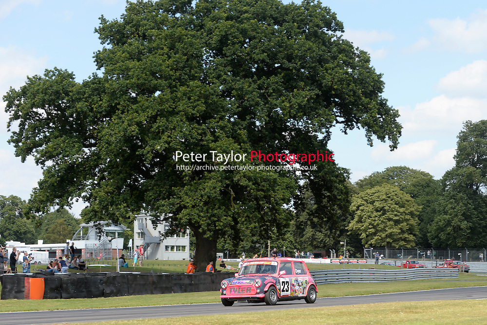 #23 Jabez Dyer Mini 7 during Mini Se7en - Race 1  as part of the Mini Festival  at Oulton Park, Little Budworth, Cheshire, United Kingdom. August 08 2015. World Copyright Taylor/PSP. Copy of publication required for printed pictures.  Every used picture is fee-liable. http://archive.petertaylor-photographic.co.uk