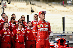 November 24, 2017 - Yas Marina Circuit, Abu Dhabi - Sebastian Vettel, Scuderia Ferrari, formula 1 GP, Abu Dhabi, Yas Marina Circuit, VAE, 24.11.2017.Photo:mspb/Jerry Andre.Credit: Melzer/face to face (Credit Image: © face to face via ZUMA Press)