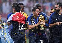 FUSSBALL  WM 2018  FINALE  ------- Frankreich - Kroatien    15.07.2018 Fortan Thauvin (Frankreich) jubelt mit dem WM Pokal