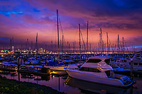 Elliott Bay Marina & Downtown Seattle @ Sunset