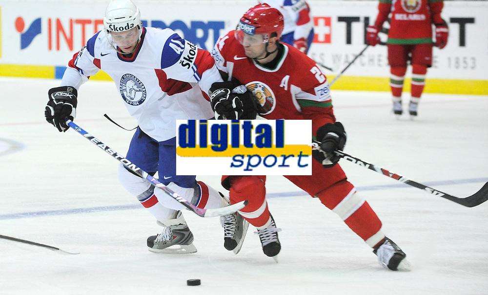 Patrick Thoresen (NOR) gegen Ruslan Salei (BLR). © Valeriano Di Domenico/EQ Images