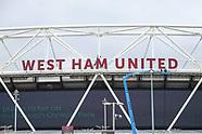 West Ham's Name Re-installed on the London Stadium Stratford - 23 Aug 2017