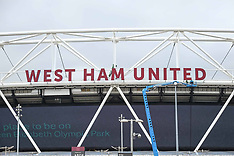 West Ham's Name Re-installed on the London Stadium Stratford - 23 Aug 2017