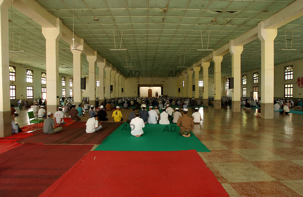 Friday prayer in the Shadian mosque.
