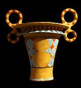 Vases, Knossos, Crete, 1450-1375 BC.  Alabastron (ointment jar).