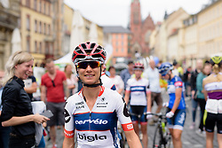 Ashleigh Moolman Pasio leads her Cervélo Bigla teammates to sign in at Thüringen Rundfarht 2016 - Stage 3 a 115km road race starting and finishing in Altenburg, Germany on 17th July 2016.