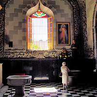Old Woman Praying in Church in Mazatl&aacute;n, Mexico<br />