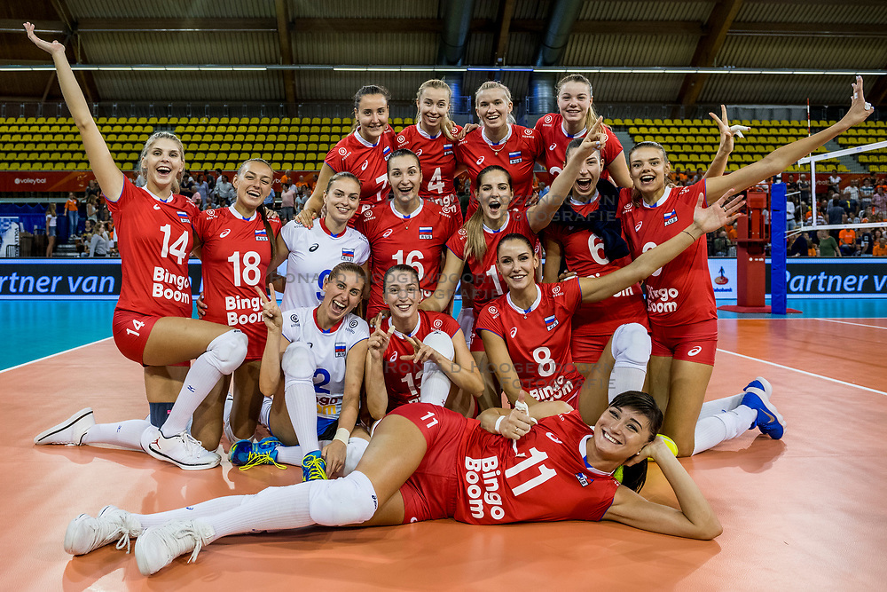 11-08-2018 NED: Rabobank Super Series Italy - Russia, Eindhoven<br /> Team Russia ready for the final