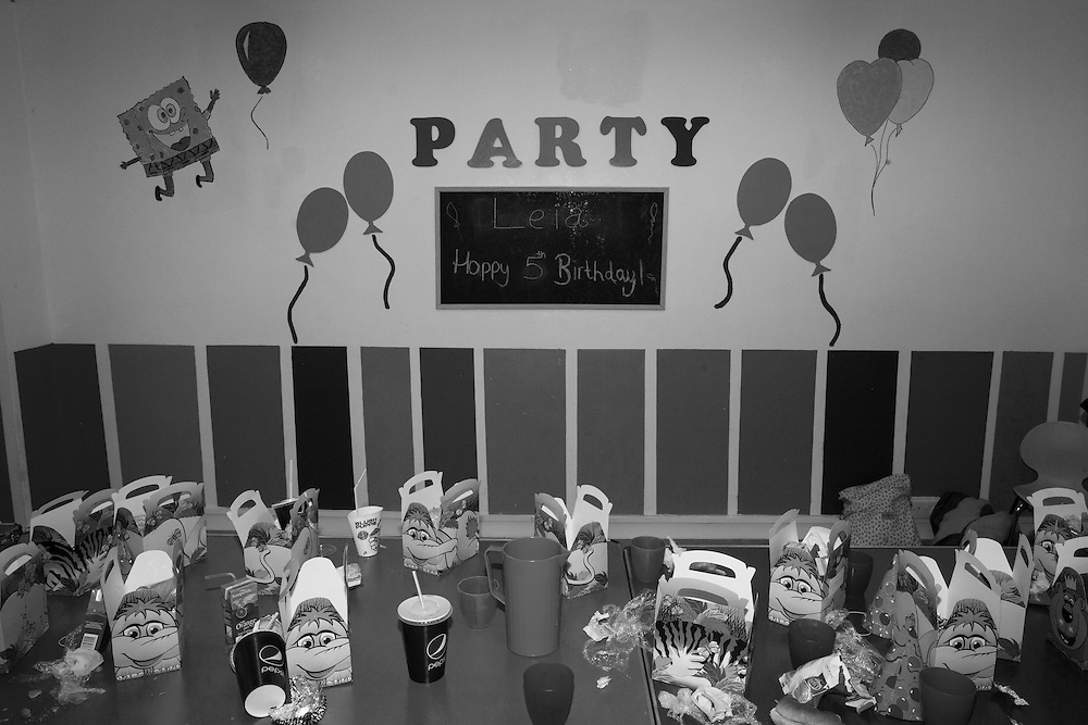 Party food containers are left at the end of Leia's 5th birthday party in England Saturday, March 7, 2015 (Elizabeth Dalziel) #thesecretlifeofmothers #bringinguptheboys #dailylife