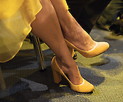 Liberal Democrats<br /> Autumn Conference 2011 <br /> at the ICC, Birmingham, Great Britain <br /> <br /> 17th to 21st September 2011 <br /> <br /> <br /> Miriam Gonzalez Durantez (shoes)<br /> watching Nick Clegg's speech <br /> <br /> <br /> <br /> Rt Hon Nick Clegg MP<br /> Leader of the Liberal Democrats<br /> Deputy Prime Minister<br /> Speech <br /> <br /> Photograph by Elliott Franks