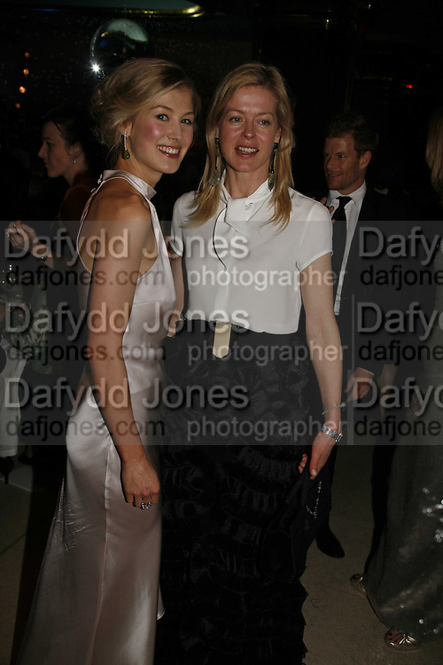 Rosamund Pike and  Lady Helen Taylor, Royal Court Theatre 50th Anniversary Gala sponsored by Vanity Fair. Titanic. Brewer St. London. 26 April 2006. ONE TIME USE ONLY - DO NOT ARCHIVE  © Copyright Photograph by Dafydd Jones 66 Stockwell Park Rd. London SW9 0DA Tel 020 7733 0108 www.dafjones.com