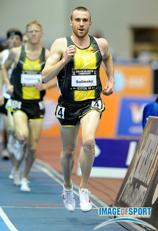 Feb 23, 2008; Boston, MA, USA; Chris Solinsky was second in the 3,000m in 8:03.80 in the AT&T USA Track & Field Indoor Championships at the Reggie Lewis Center.