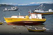 Boats on Chiloe Island, Chile