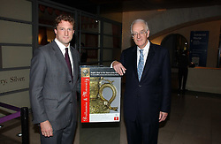 Left to right, NICK HOFFMAN chairman of the Gilbert Collection Trust and TIMOTHY STEVENS at 'Britannia & Muscovy English Silver at The Court of The Tsars' exhibition opening at the Gilbert Collection, Somerset House, London on 20th October 2006<br />