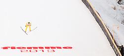 02.03.2013, Skisprungstadion, Predazzo, ITA, FIS Weltmeisterschaften Ski Nordisch, Nordische Kombination, Skisprung Großschanze Team, Wertungsdurchgang, im Bild Bill Demong (USA) // Bill Demong of United States Republic during the Mens Nordic Combined Team Large Hill Skijump Competition of the FIS Nordic Ski World Championships 2013 at the Skijumping Stadium, Predazzo, Italy on 2013/03/02. EXPA Pictures © 2013, PhotoCredit: EXPA/ Juergen Feichter