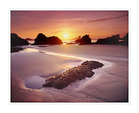 Sunset on Crescent Beach Ecola State Park Oregon