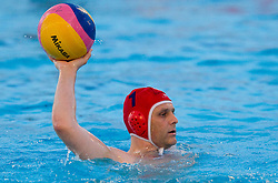 Roman Naglic of Triglav during water polo match between ASD Vaterpolo Rokava Koper and AVK Triglav Kranj in 3rd Round of Final of Slovenian Water polo National Championship, on June 8, 2011 in Zusterna pool, Koper, Slovenia. Rokava Koper defeated Triglav Kranj 12-6 and became Slovenian Champion 2011. (Photo By Vid Ponikvar / Sportida.com)