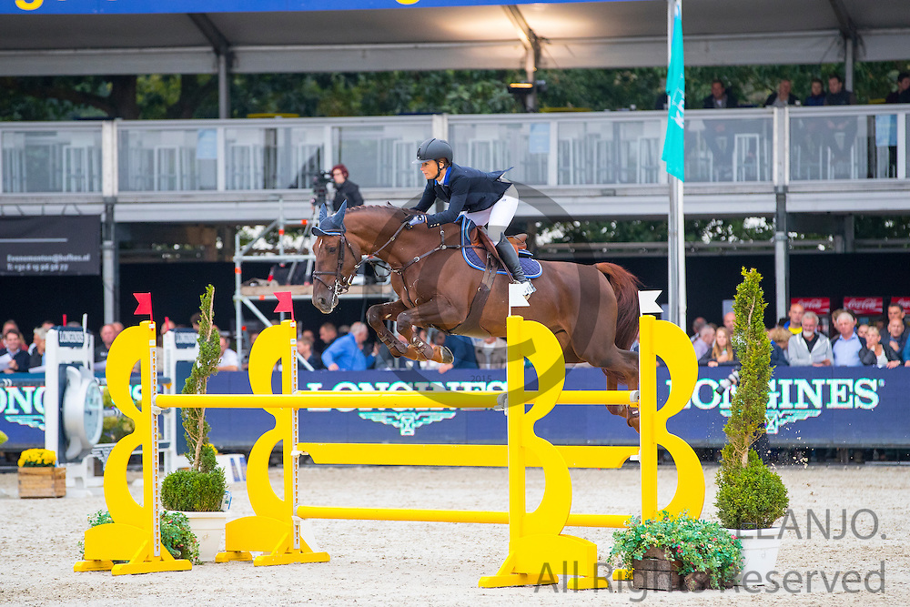 Evelyne van Vreckom - Ligie's Goldstar v.V.<br /> FEI World Breeding Jumping Championships for Young Horses 2016<br /> © DigiShots