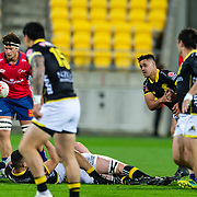 WELLINGTON, NEW ZEALAND - 29 SEPTEMBER: Action during the New Zealand ITM Cup rugby union game played on 29 September 2018, between Wellington v Tasman, played at Westpac Stadium, Wellington, New Zealand. Tasman won 28-22.