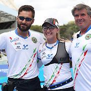 Roma 03/09/2017 Stadio dei Marmi<br /> Hyundai Archery World Cup - Finale<br /> Finale Ricurvo Misto<br /> la coppia italiana Vanessa Landi e Mauro Nespoli
