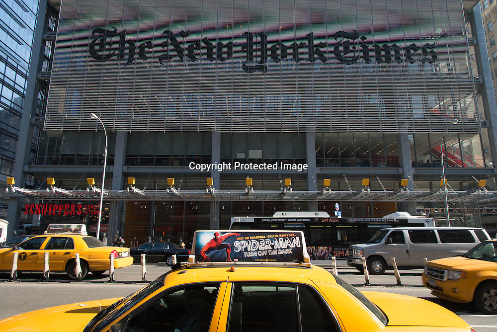 New york. USA. New York Times new Tower in Times square, architect Renzo Piano