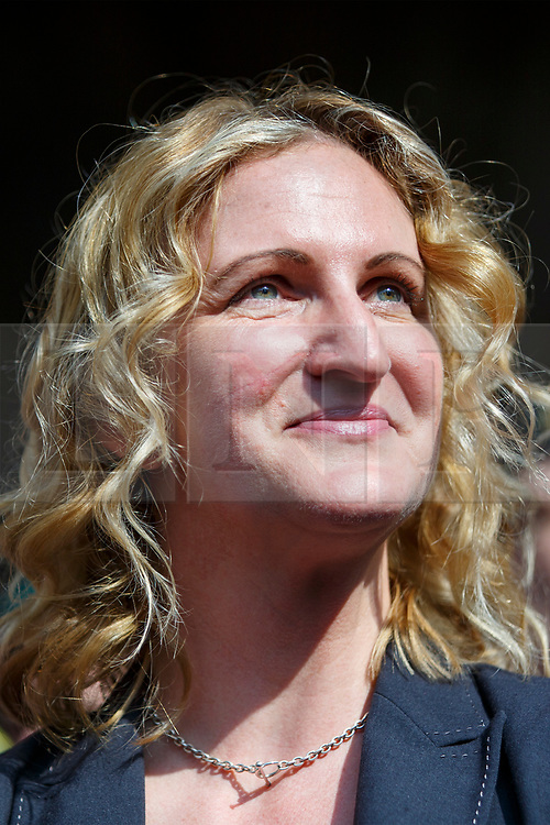 © Licensed to London News Pictures. 28/03/2017. London, UK. CLAIRE BLACKMAN (C), wife of Sergeant Alexander Blackman, leaves the Royal Courts of Justice in London on 28 March 2017. Sgt Blackman's murder charge is overturned to manslaughter and means he will be free in less than two weeks. Also known as Marine A, Sgt Blackman's was convicted of murder of a wounded Taliban fighter in Afghanistan in 2011. Photo credit: Tolga Akmen/LNP