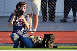 {BLOOMINGTON, IL: Lewis Marien during a college football game between the IWU Titans  and the Wheaton Thunder on September 15 2018 at Wilder Field in Tucci Stadium in Bloomington, IL. (Photo by Alan Look)