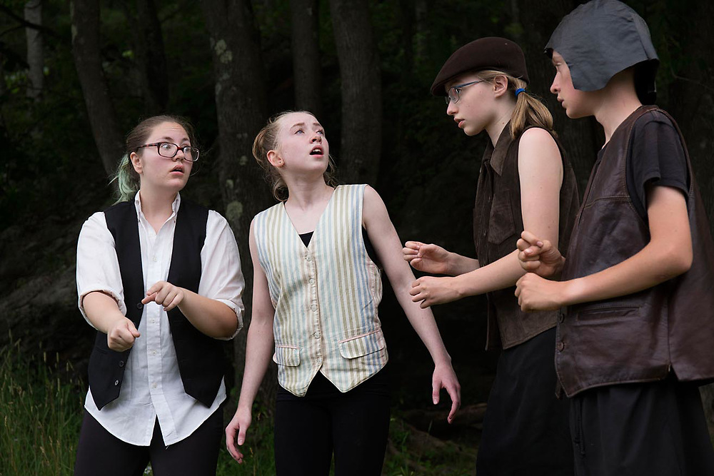 "Performance of ""Hamlet"" by the Chelsea Funnery in Tunbridge, Vt., on July 21-22, 2017. Profits from print and download sales to benefit the Funnery Scholarship Fund. (Photo by Geoff Hansen)"
