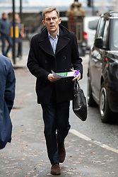 © Licensed to London News Pictures. 16/11/2019. London, UK. Labour Party Executive Director of Strategy and Communications Seumas Milne arrives for a Labour NEC meeting at Savoy Place.  Photo credit: George Cracknell Wright/LNP