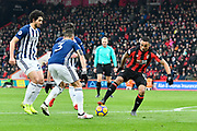 Callum Wilson (13) of AFC Bournemouth looking for an opening during the Premier League match between Bournemouth and West Bromwich Albion at the Vitality Stadium, Bournemouth, England on 17 March 2018. Picture by Graham Hunt.