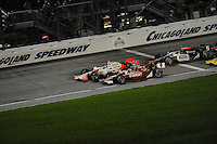 Ryan Briscoe beats Scott Dixon to the finish, Peak Antifreeze and Motor Oil Indy 300, Chicagoland Speedway, Joliet, IL USA