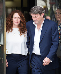 Image ©Licensed to i-Images Picture Agency. 24/06/2014. London, United Kingdom. Hacking trial: Ex-News International chief executive Rebekah Brooks and Charlie Brooks leaving Old Bailey after being cleared of all charges in the phone-hacking trial. Old Bailey. Picture by Daniel Leal-Olivas / i-Images