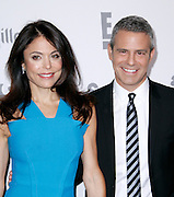 Bethenny Frankel and Andy Cohen attend the 2015 NBCUniversal Cable Entertainment Upfront at the Javitz Center North Hall in New York City, New York on May 14, 2015.