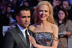 © Licensed to London News Pictures. 12/10/2017. London, UK. COLIN FARRELL and NICOLE KIDMAN attend the UK film premiere of Killing Of A Sacred Deer showing as part of the 51st BFI London Film Festival. Photo credit: Ray Tang/LNP