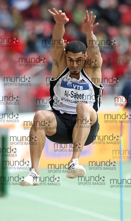 (Stuttgart, Germany---14 September 2008) Hussein Taker Al-Sabee of the Kingdom of Saudi Arabia competing in the long jump at the 2008 World Athletics Final. [Copyright Sean W. Burges/Mundo Sport Images, 2008.]