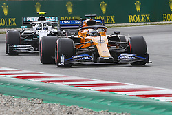 May 11, 2019 - Barcelona, Catalonia, Spain - McLaren Renault driver Carlos Sainz (55) of Spain and Mercedes driver Valtteri Bottas (77) of Finland during F1 Grand Prix free practice celebrated at Circuit of Barcelona 11th May 2019 in Barcelona, Spain. (Credit Image: © Mikel Trigueros/NurPhoto via ZUMA Press)