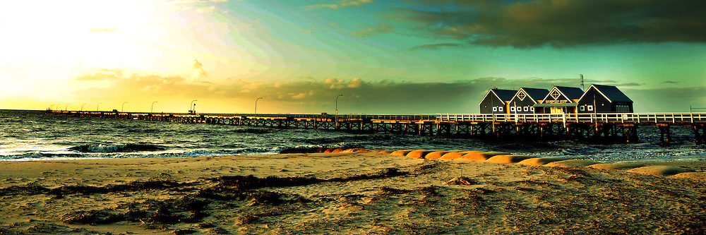 Busselton Jetty of Western Australia in Panorama