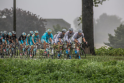 Lillois-Witterzee, Belgium - Eneco Tour :: Stage 7 - 18th August 2013 - Peloton with Argos-Shimano leading the pursuit for leader Tom DUMOULIN