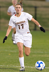 Virginia midfielder/forward Sinead Farrelly (17)..The Virginia Cavaliers defeated the Loyola (MD) Greyhounds 4-1 in the first round of the NCAA Women's Soccer tournament held at Klockner Stadium in Charlottesville, VA on November 16, 2007.