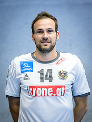 07.06.2016, BSFZ Südstadt, Maria Enzersdorf, AUT, ÖHB, Fototermin Herren Nationalteam, im Bild Viktor Szilagyi (AUT) // during a Portrait Photoshoot of the Austrian men' s handball National Team at the BSFZ Südstadt, Maria Enzersdorf, Austria on 2016/06/07, EXPA Pictures © 2016, PhotoCredit: Stiegl/EXPA/Sebastian Pucher